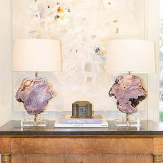 Alchemy Collection table lamps- lots of rare and unusual mineral specimens available.