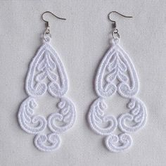 FSL Delicate Earrings 10 - 4x4 | What's New | Machine Embroidery Designs | SWAKembroidery.com Ace Points Embroidery