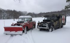 1967 LWB Battlefield Ambulance 1971 SWB Truck Cab Snowplow
