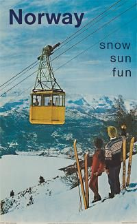 1967 vintage ski poster Norway   www.liberatingdivineconsciousness.com