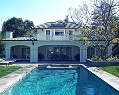 Elegant Brentwood Estate with Modern Approach: Awesome Modern Landscape View With Swimming Pool Brentwood Estate