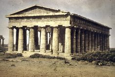 Temple of Hera II at Paestum, c. 450. The Temple of Zeus is now destroyed, but the Temple of Hera II at Paestum gives us a sense of the proportions of the Olympia temple.