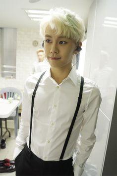 ilhoon in suspenders...I rEpeAt ILHOON IN SUSPENDERS!!!!! #adorable