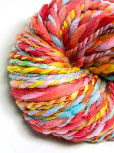 Super bulky yarn handspun in hand painted and by TheGingkoLeaf, $18.80