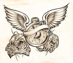 clock sketch by *WillemXSM Designs & Interfaces / Tattoo Design