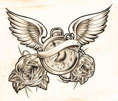 clock sketch by *WillemXSM Designs & Interfaces / Tattoo Design