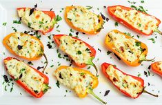 Top 10 Stuffed Peppers Recipes for Delicious Lunch or Dinner - Top Inspired Yummy Appetizers, Appetizers For Party, Vegetarian Appetizers, Stuffed Mini Peppers, Refreshing Desserts, Clean Eating Recipes, Cooking Tips, Brunch, Ethnic Recipes
