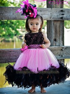 Angelic Radiance Satin Rosette Feather Lined Tutu Dress