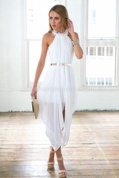 gold. White Sleeveless DressMaxi ... 4db2909f9