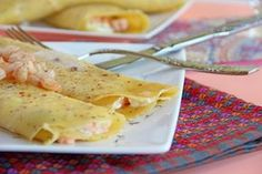 Salmon and mascarpone crêpes - eventos - Crepe Crepes And Waffles, Pancakes, Churros, My Recipes, Salmon, Buffet, Food And Drink, Tasty, Dinner