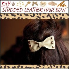 """""""DIY Studded Leather Hair Bow"""" by makeupchick07 on Polyvore"""