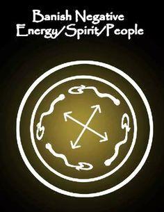 Banish negative energy,people