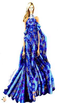 Figurín Afrodita de la colección Corfú