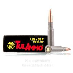TulAmmo 7.62x54r Ammo - 500 Rounds of 148 Grain FMJ Ammunition #762x54r #762x54rAmmo #Tula #TulAmmo #Tula762x54r #FMJAmmo Grains, Seeds, Korn