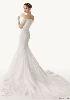 rosa clara 2013 bengala off shoulder mermaid wedding dress