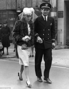Kick and her brother Lieutenant Joseph Kennedy  arrive at her wedding to the Marquis of Hartington, son of the Duke of Devonshire, in May 1944