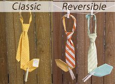 Boy's Tie Sewing Pattern Classic and Reversible by ButterflyTree.
