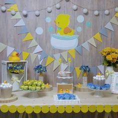 festa patinho Kylie Baby Shower, Baby Shower Fun, Baby Shower Themes, Baby Shower Decorations, Shower Ideas, Rubber Ducky Birthday, Rubber Ducky Party, Rubber Ducky Baby Shower, Juegos Baby Shower Niño
