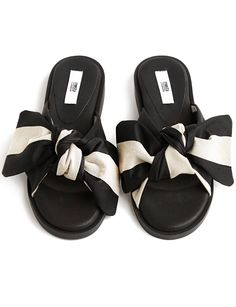 Bow Slide Sandals  #fashion #pixiemarket