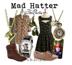 """""""Mad Hatter (Tim Burton)"""" by thejoyofdisney ❤ liked on Polyvore featuring Merona, Emily and Fin, Sugarhill Boutique, Disney, women's clothing, women, female, woman, misses and juniors"""