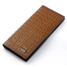 Fashion long wallet, good for fix suit! LONDA POLO, hight qualitiy! genuine leather. Crocodile texture.