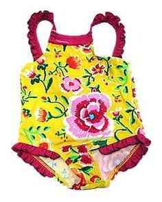 Chinese embroidery print baby swimsuit