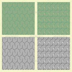 Seamless Spiral Circle Pattern