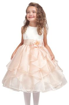 Beaded Halter Flower Girl Dress Wedding Pageant Party Formal Toddler 3T-6 #204
