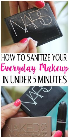 Germ Your makeup is crawling with germs. Learn how to sanitize your everyday makeup in under 5 minutes with beauty Diy Beauty, Beauty Makeup, Beauty Hacks, Beauty Tips, Make Up Looks, Urban Decay Basics, Makeup Inspiration, Makeup Ideas, Makeup Tutorials