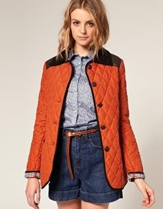 ASOS Quilted Jacket With Leather Look Trim - StyleSays