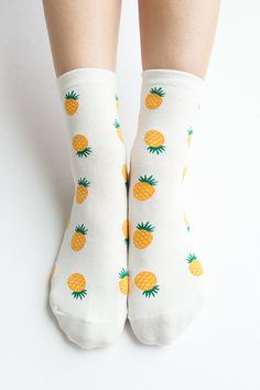 Women New Must Have Hezwagarcia World's the Cutest Pineapple Pattern High Quality Cotton Cozy Ankle Socks on Etsy, $6.51 CAD