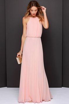 Shop Pink Sleeveless Halter Pleated Maxi Dress online. Sheinside offers Pink Sleeveless Halter Pleated Maxi Dress & more to fit your fashionable needs. Free Shipping Worldwide!