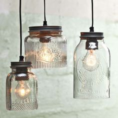 lighting from old jars