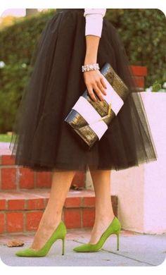 Modest Clothing - Womens Midi Length Tulle Skirts