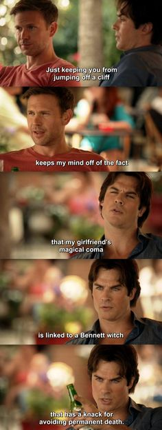 The Vampire Diaries TVD 7X01 - Damon and Alaric