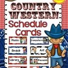 Schedule+Cards+{Country+Western}  Keep+track+of+your+Classroom+Schedule+this+year+with+this+adorable+country+western+style+schedule+card+set.+48+il...