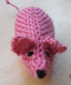 Wool  Last years Challenge Made for the MIle of Mice charity knit