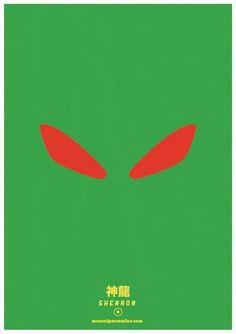 Shenron - dragon ball minimalist poster