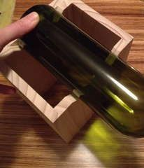 A jig for cutting bottles. Looks much better than my ancient erector set-esque contraption! #AncientWoodworkingTools