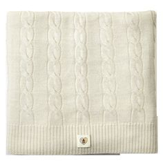 And the perfect unisex merino wool cable knit blanket.