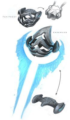 His energy sword design Halo Sword, Halo Armor, Halo Cosplay, Halo Reach, Energy Sword, Halo Collection, Halo Master Chief, Halo Game, Red Vs Blue