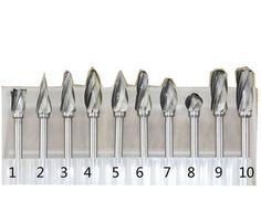 10pcs Tungsten Carbide Rotary Burr SET 1/8'' Shank Fit Dremel Tools for DIY…