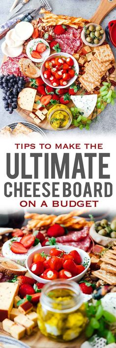 Learn how to make the Ultimate Wine and Cheese Board on a budget with simple tips and tricks. You'll be a DIY cheeseboard ninja by the end of this detailed post. Perfect for Christmas holidays, as a party appetizer for a crowd or for a romantic dinner date.