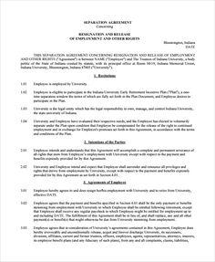 Separation agreement legal separation separation for Ontario legal separation agreement template