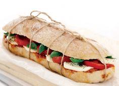 Vegetarian Fresh Mozzarella Sandwiches   , Mozzarella and Basil Ciabatta Sandwich Recipe : Cook Vegetarian ...
