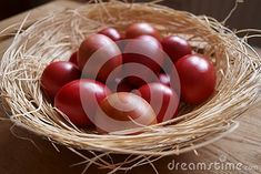 Photo about Easter background with red eggs. Image of eggsn, colorful, painted - 140228695 Egg Photo, Easter Backgrounds, About Easter, Free Stock Photos, Eggs, Colorful, Illustration, Red, Image