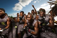 FUN: This shows the fun a football experiences as part of a brotherhood. You can feel the fraternal bond, like a platoon.