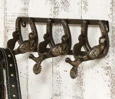 Cast Iron Spur Coat Rack
