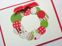 Christmas Card Christmas Wreath Card by TerrysCards on Etsy, $3.00