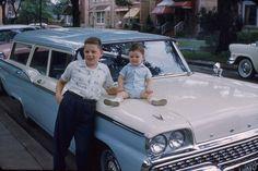 AMERICANA: BABY BLUE brand new 1959 Ford Station Wagon.
